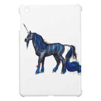 Coque Pour iPad Mini Bleu bleu rayé noir de zèbre d'Irespiral de