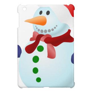 Coque Pour iPad Mini Bonhomme de neige décoré