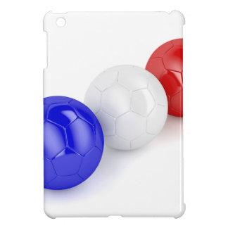 Coque Pour iPad Mini Boules du football avec le drapeau de la France
