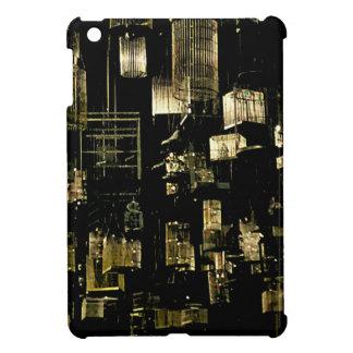 Coque Pour iPad Mini Cages à oiseaux suspendues noires et blanches