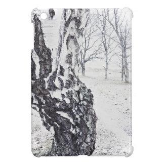 Coque Pour iPad Mini Cas d'iPad brillant de bouleaux d'hiver mini