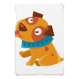 Coque Pour iPad Mini Chiot idiot avec le collier bleu prêt à aller pour