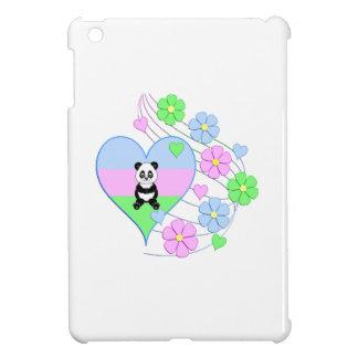 Coque Pour iPad Mini Coeur de panda d'amusement