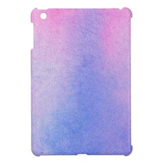 Coque Pour iPad Mini Couleur pour aquarelle de marbre rose et bleue