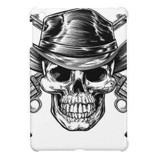 Coque Pour iPad Mini Crâne et pistolets de cowboy