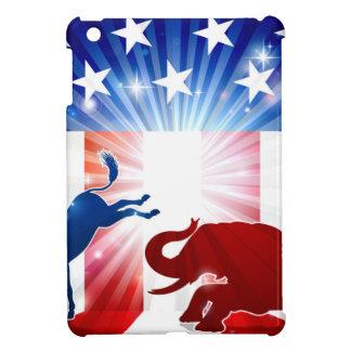 Coque Pour iPad Mini Éléphant de combat d'âne de silhouette
