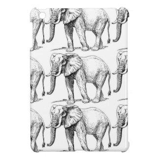 Coque Pour iPad Mini éléphants carrés