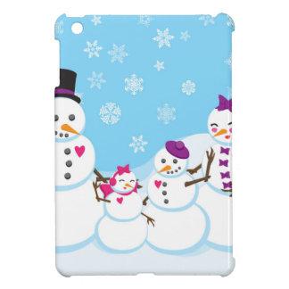 Coque Pour iPad Mini Famille de neige d'hiver