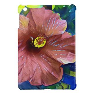 Coque Pour iPad Mini Fleur artistique de ketmie de rose poussiéreux