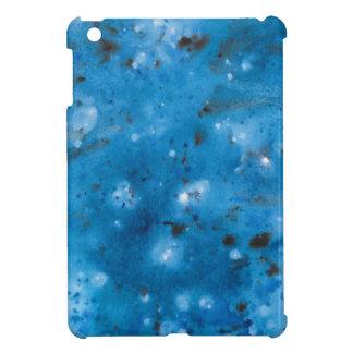 Coque Pour iPad Mini Floc de marbre bleu-foncé