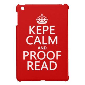 Coque Pour iPad Mini Gardez le calme et le corrigez sur épreuves (le