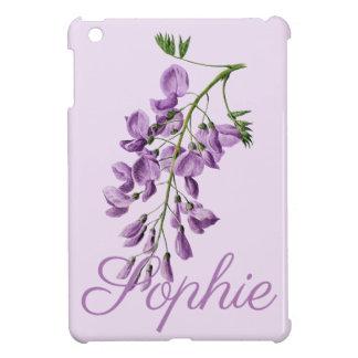 Coque Pour iPad Mini Glycine vintage/victorienne fleurit Personnalised