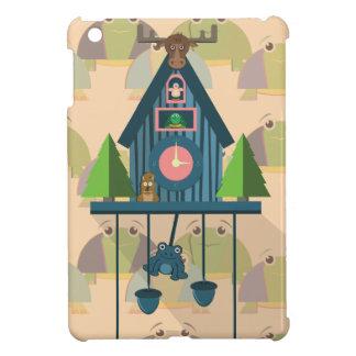 Coque Pour iPad Mini Horloge de coucou avec le papier peint de tortue