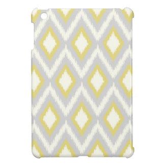 Coque Pour iPad Mini Ikat tribal gris et jaune Chevron