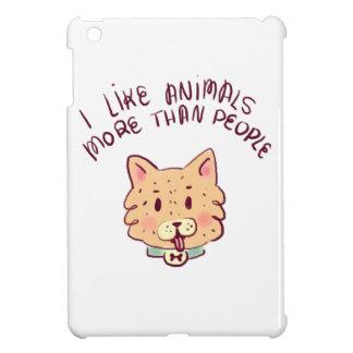 Coque Pour iPad Mini J'aime des animaux davantage que des personnes,