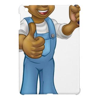 Coque Pour iPad Mini Jardinier noir de bande dessinée