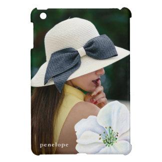 Coque Pour iPad Mini Jolie fleur avec la photo et le cas de nom