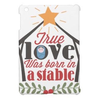 Coque Pour iPad Mini L'amour vrai de nativité de Noël était né dans une