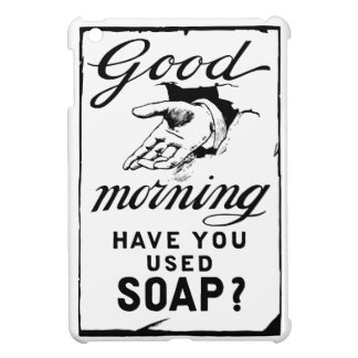 Coque Pour iPad Mini lavez votre rétro annonce d'hygiène de mains