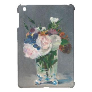 Coque Pour iPad Mini Manet | fleurit dans un vase en cristal, c.1882