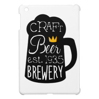 Coque Pour iPad Mini Modèle de conception de logo de bière de métier