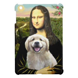 Coque Pour iPad Mini Mona Lisa et son chiot de golden retriever