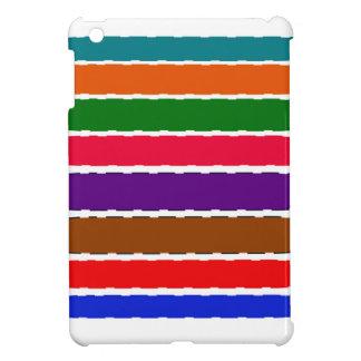 Coque Pour iPad Mini Motif coloré élégant de tranches d'arc-en-ciel
