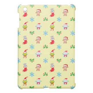 Coque Pour iPad Mini Motif de Noël de souris, de bonhomme de neige, de