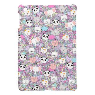 COQUE POUR iPad MINI MOTIF EN PASTEL D'ANIMAUX FRAIS DE KAWAII