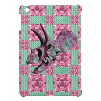 Coque Pour iPad Mini Motif géométrique de crâne rose de dinosaure