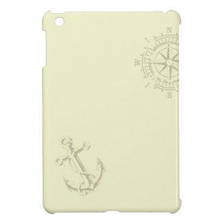 Coque Pour iPad Mini Nautik - l'qu'enveloppe avec des ancres et le