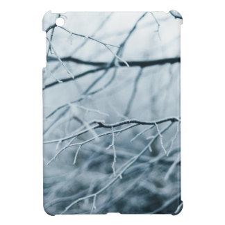 Coque Pour iPad Mini Noël blanc de chute de neige abstrait