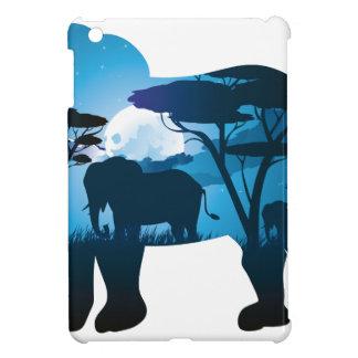 Coque Pour iPad Mini Nuit africaine avec l'éléphant 6