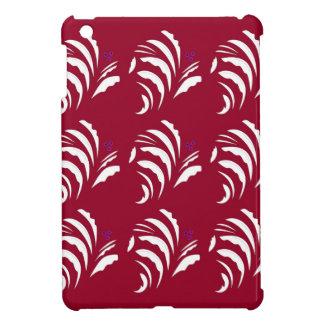 Coque Pour iPad Mini Ornemente le rouge blanc