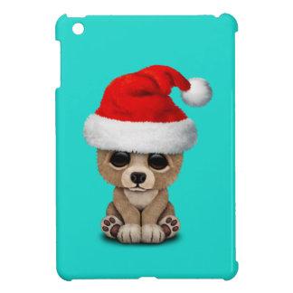 Coque Pour iPad Mini Ours de bébé utilisant un casquette de Père Noël