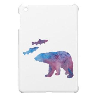 Coque Pour iPad Mini ours et saumon