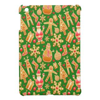 Coque Pour iPad Mini Père Noël de fête et pain d'épice de bonhomme de