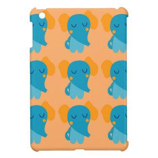 Coque Pour iPad Mini Petits éléphants de Cutie sur l'or