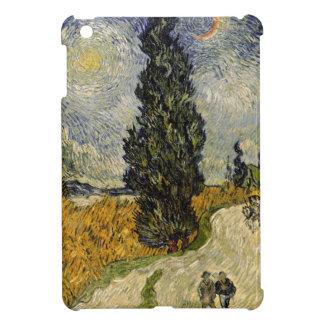 Coque Pour iPad Mini Route de Vincent van Gogh | avec des cyprès, 1890