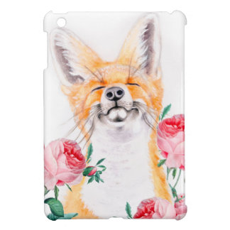 Coque Pour iPad Mini Rusé heureux et roses