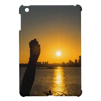 Coque Pour iPad Mini Scène de paysage urbain de coucher du soleil,