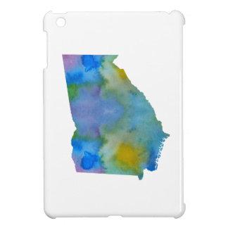Coque Pour iPad Mini Silhouette colorée de la Géorgie