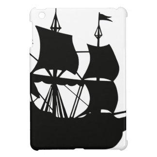 Coque Pour iPad Mini Silhouette de bateau de galion