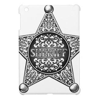 Coque Pour iPad Mini Style occidental d'insigne d'étoile de shérif