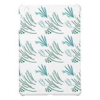 Coque Pour iPad Mini Vert d'algues sur le blanc