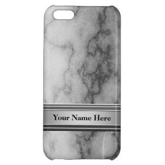 Coque Pour iPhone 5C Marbre noir et blanc