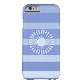"""Coque pour iPhone 6 bleue décor """"Fleur"""""""