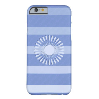 "Coque pour iPhone 6 bleue décor ""Fleur"" Coque iPhone 6 Barely There"