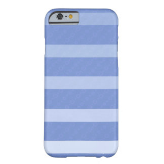 "Coque pour iPhone 6 bleue décor ""Lignes"" Coque Barely There iPhone 6"