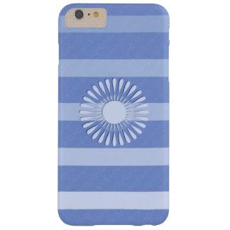 """Coque pour iPhone 6 plus bleue décor """"Fleur"""""""